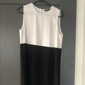 Zara black and white mini dress.